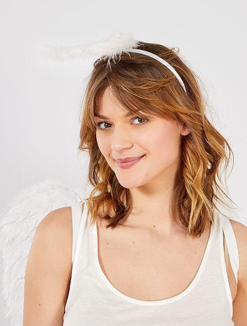 Serre tête auréole ange                             blanc