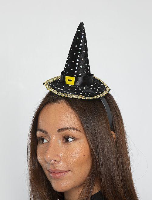 Serre-tête chapeau de sorcière                             noir