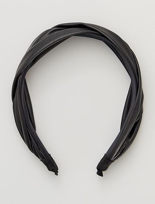 Serre-tête effet cuir                             noir