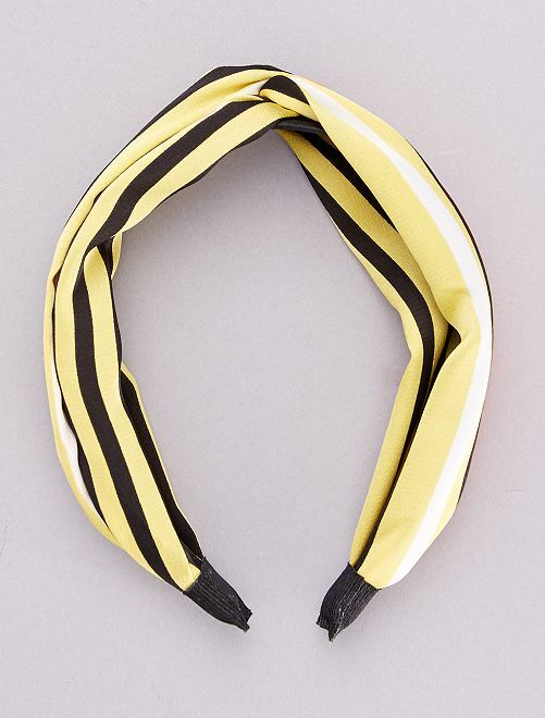 Serre-tête foulard rigide                                         jaune
