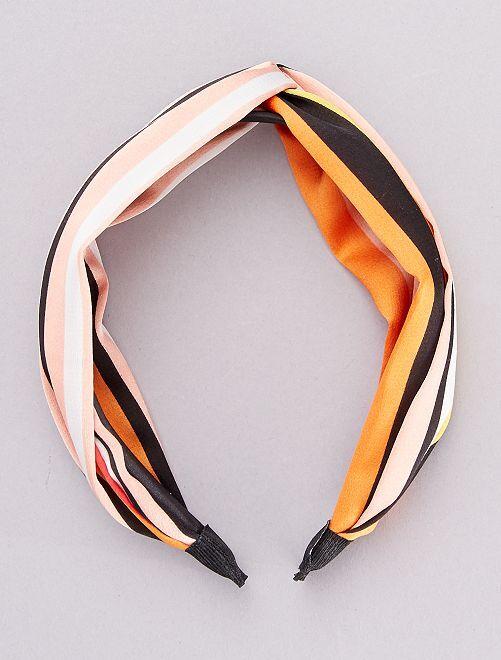 Serre-tête foulard rigide                                         orange