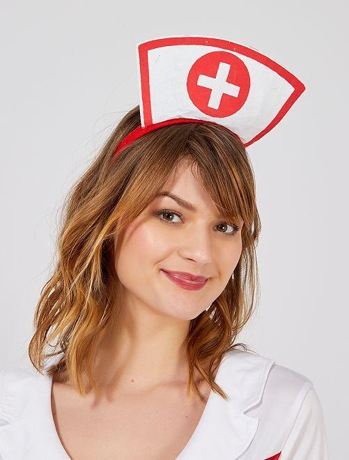 Serre-tête 'infirmière'                             blanc