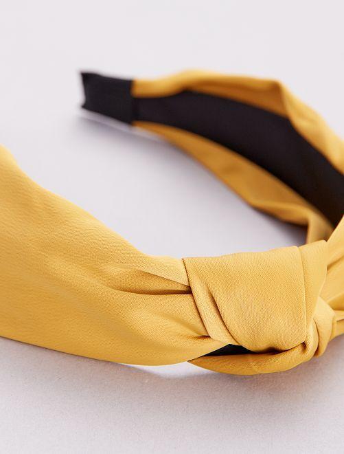 Serre-tête rigide effet foulard                                                     jaune