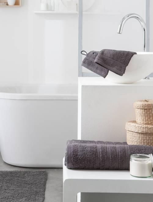 Serviette de bain 50 x 90 cm 500gr                                                                                                                             gris Linge de lit