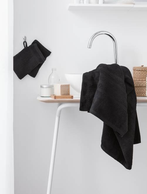 Serviette de bain 50 x 90 cm 500gr                                                                                                                                         noir Linge de lit
