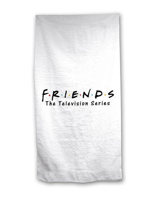 Serviette de plage 'Friends'                             blanc