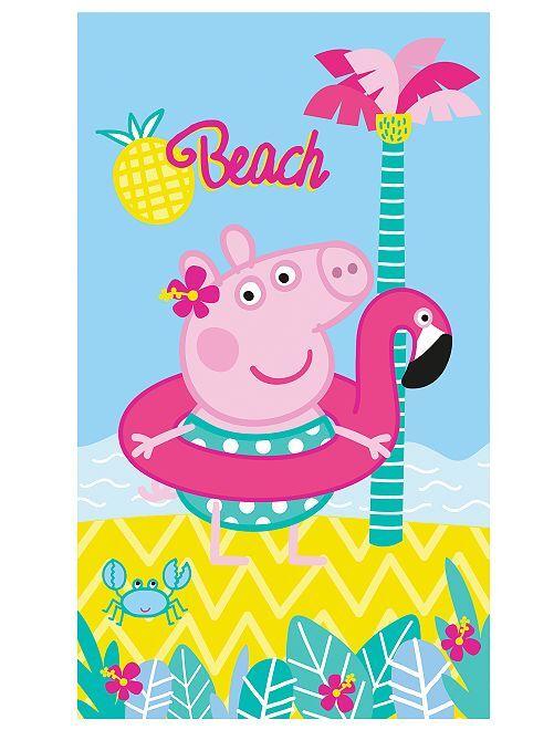 Serviette de plage 'Peppa Pig'                             bleu
