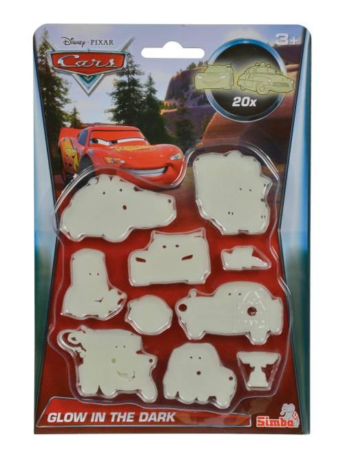 Set 20 stickers phosphorescents 'Cars'                             rouge
