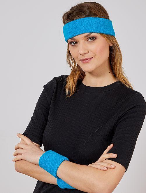 Set bandeau et poignets en éponge                                                                 bleu Accessoires