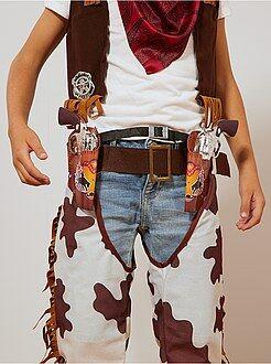 Garçon 3-12 ans Set cowboy pistolets + ceinture + insigne + étuis