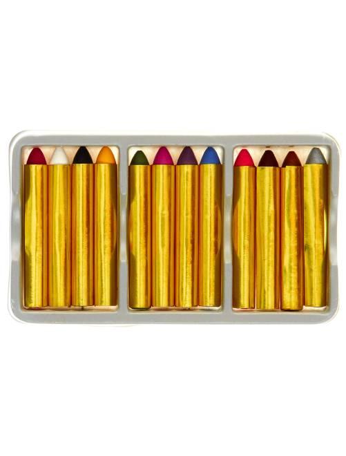 Set de 12 crayons gras de maquillage                             multicolore Accessoires