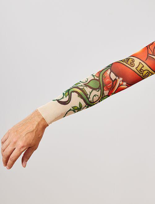 Set de 2 manches tatouées                             rouge