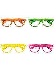 Set de 4 lunettes fluo
