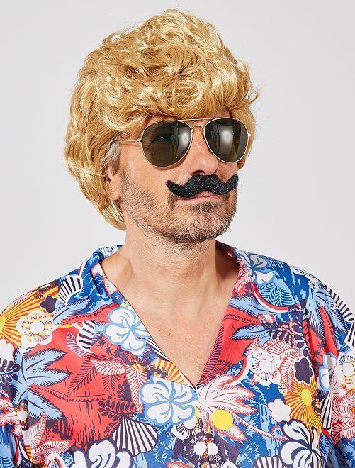 Set de 6 moustaches autocollantes                             noir