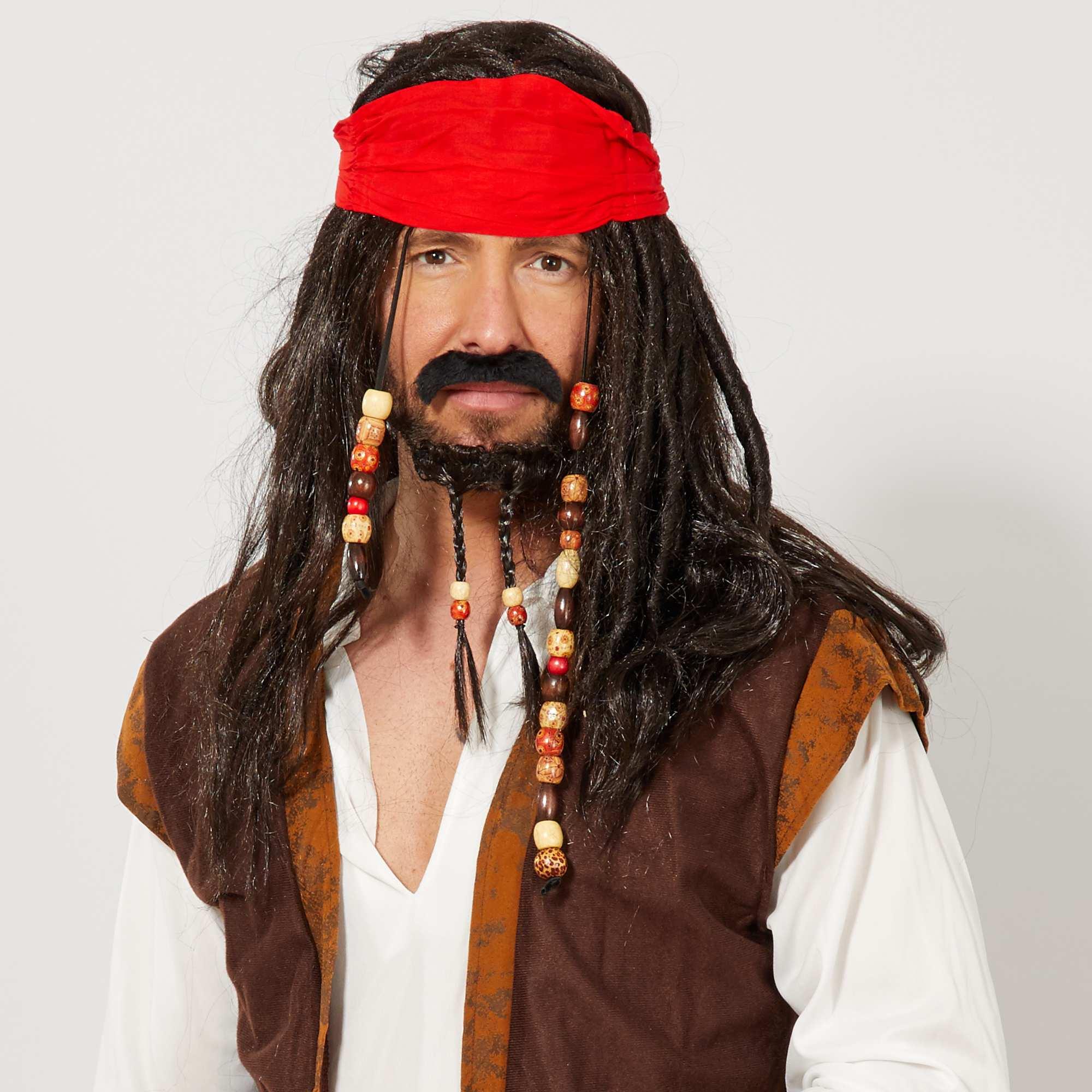 Couleur : noir, , ,, - Taille : TU, , ,,Pour compléter votre look de pirate ! - Le set de pirate - Le set comprend une