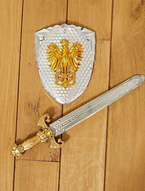 Set épée et bouclier chevalier                             argent