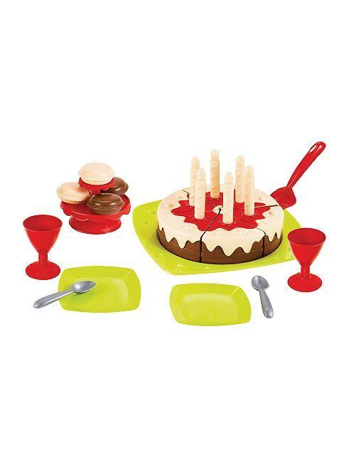 Set gâteau d'anniversaire 'Ecoiffier'                             multicolore