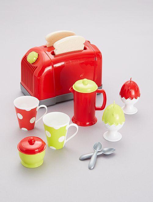 Set grille pain et accessoires                             rouge / vert