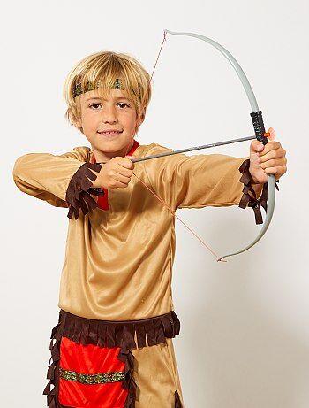 Set indien arc à flèches et couteau