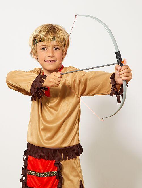 Set indien arc à flèches et couteau                             gris/marron