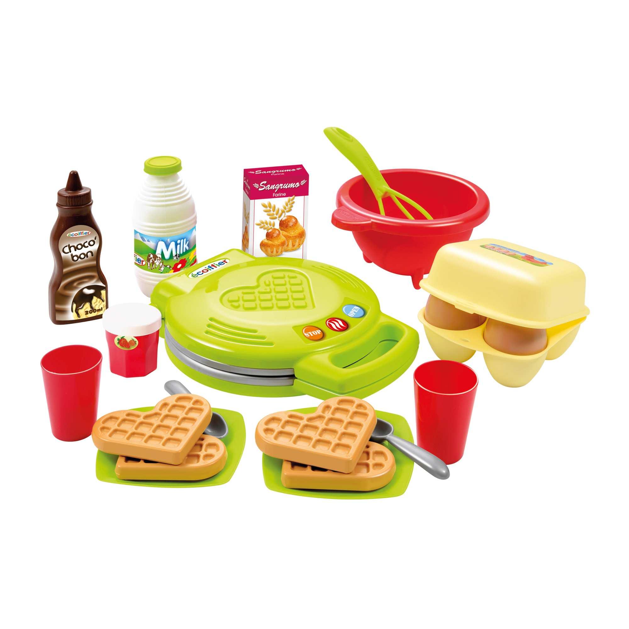 Couleur : multi, , ,, - Taille : TU, , ,,Prépare des petits déjeuners pour toutes la famille ! - Set machine à gaufres avec