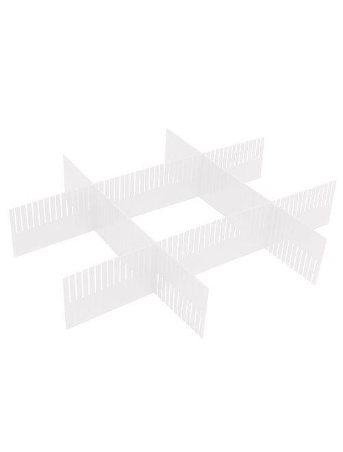 Set organisateur de tiroirs en plastique                             transparent