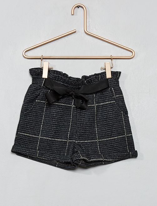 Short à carreaux                                         noir/gris carreaux