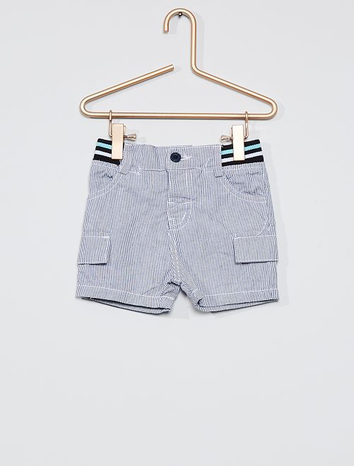 Short à rayures                             bleu/blanc