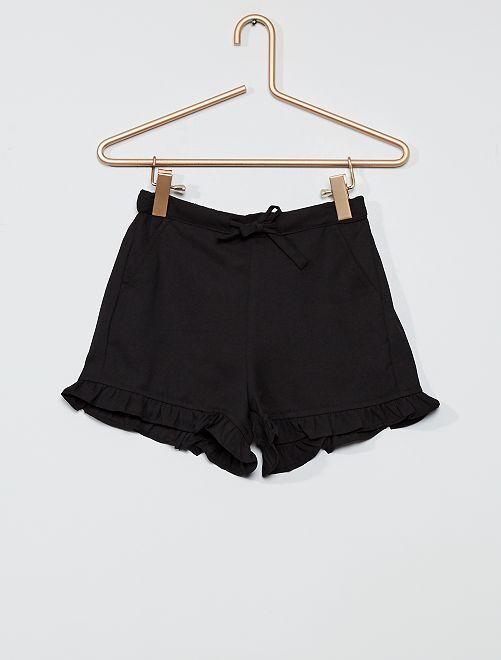 Short à volants                             noir
