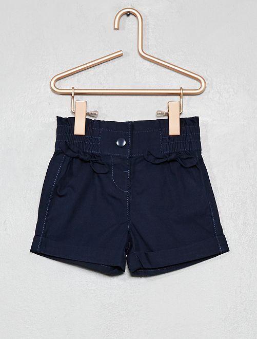 Short avec nœuds                                             bleu marine Bébé fille