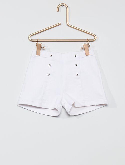 Short avec rivets                             blanc