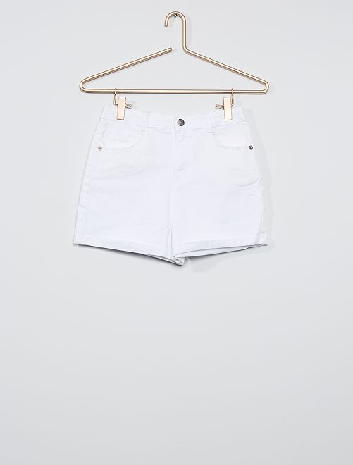 Short blanc en twill                                                     blanc