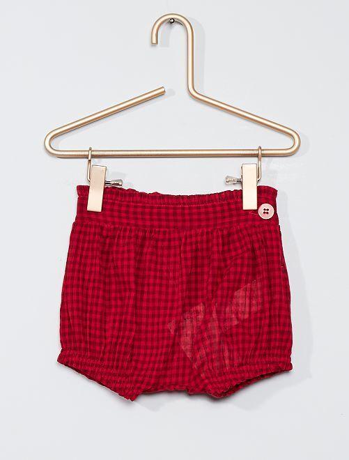 Short bloomer éco-conçu                             rouge