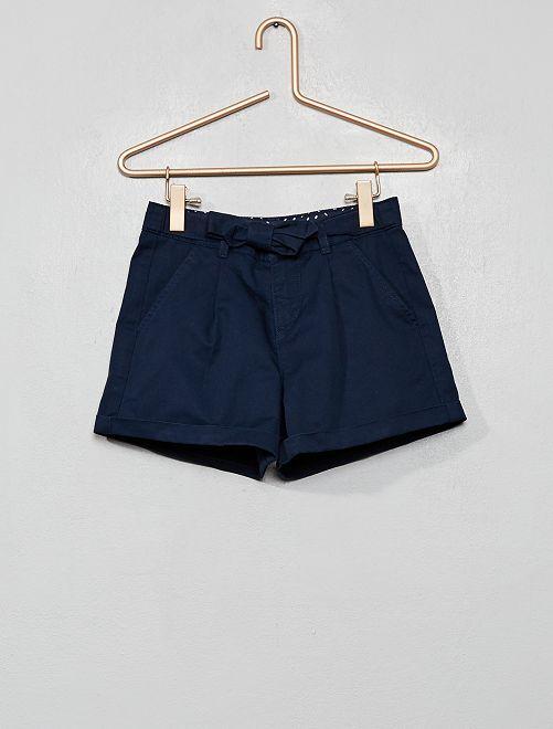 Short ceinture à nouer                                         bleu marine