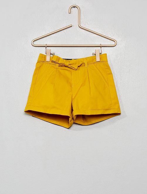 Short ceinture à nouer                                                                 jaune