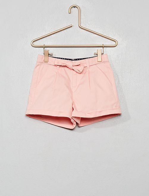Short ceinture à nouer                                                                 rose clair