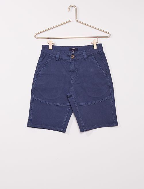 Short chino                                         bleu