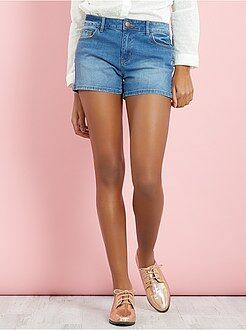 Pantacourt, short - Short court en denim