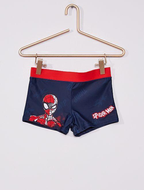 Short de bain à taille élastique 'Spider-man'                             BLANC