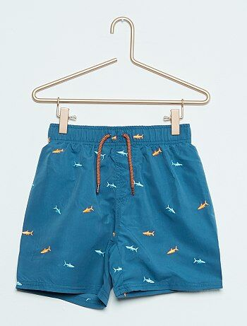 Short de bain brodé `requins`