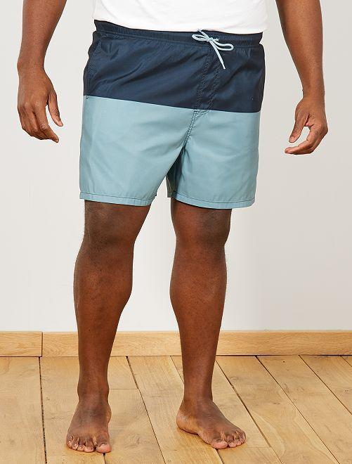 Short de bain color bloc                             bleu Grande taille homme