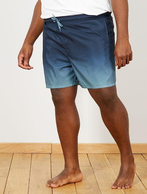 Short de bain dégradé                             bleu Grande taille homme