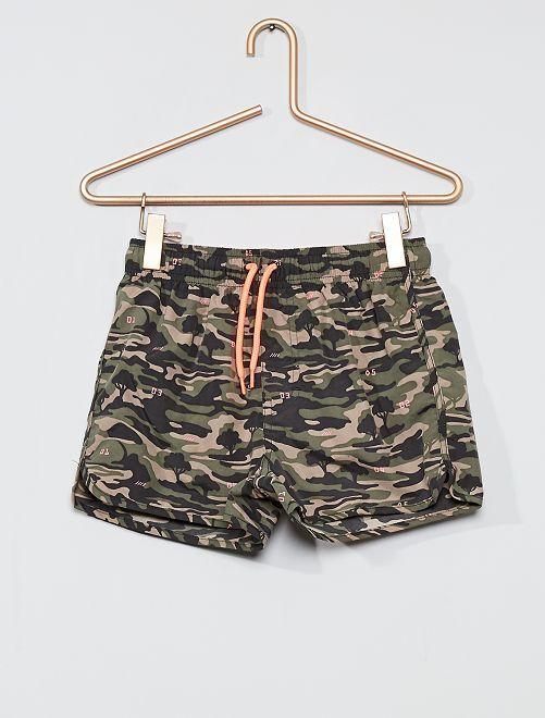 Short de bain imprimé 'camouflage'                                         kaki