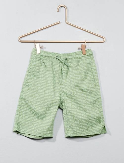 Short de bain imprimé                                                     imprimé vert Garçon