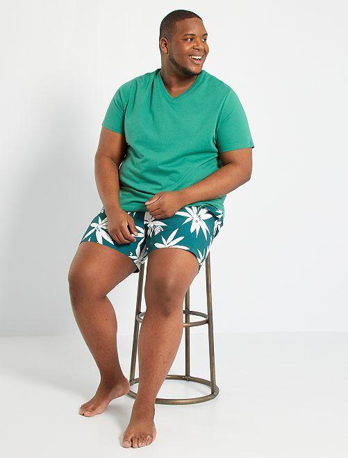Short de bain imprimé                             vert/blanc