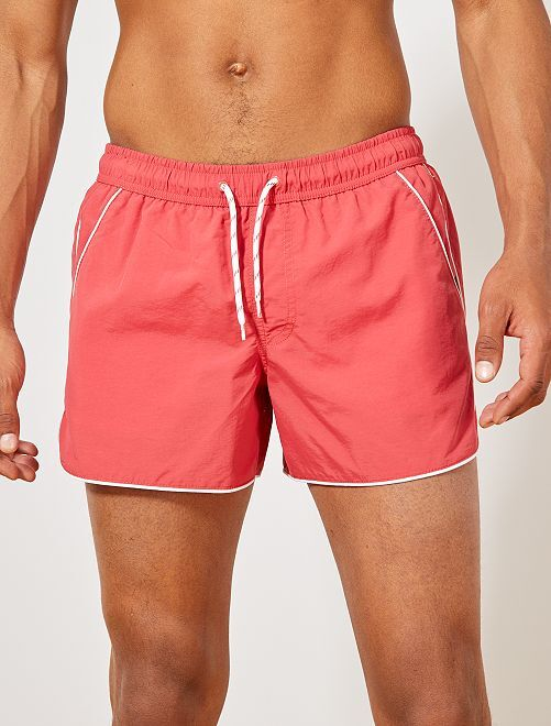 Short de bain                                                     rouge Homme