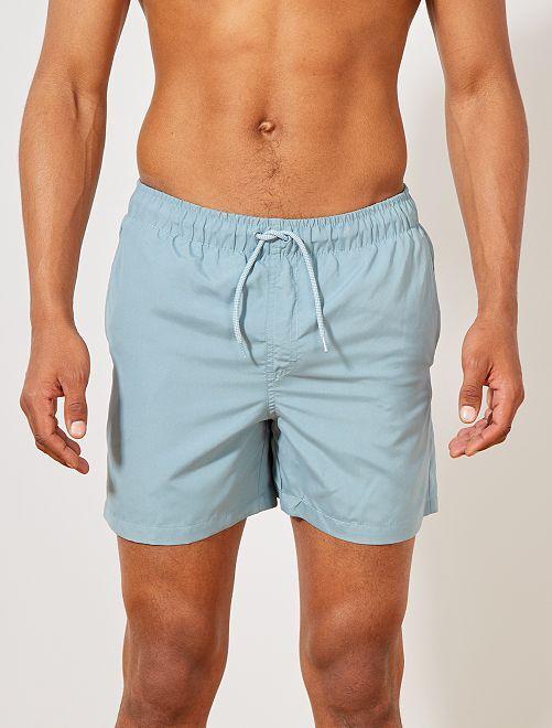 Short de bain uni                                                                 bleu gris