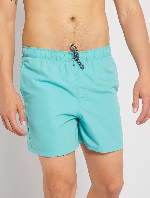Short de bain uni                                                                             bleu turquoise