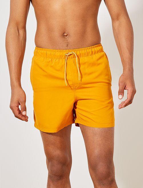 Short de bain uni                                                                                         jaune Homme
