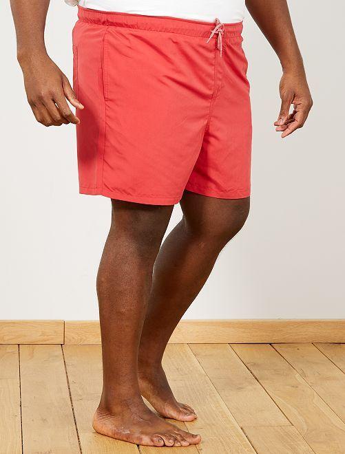 short de bain uni grande taille homme noir kiabi 8 00. Black Bedroom Furniture Sets. Home Design Ideas